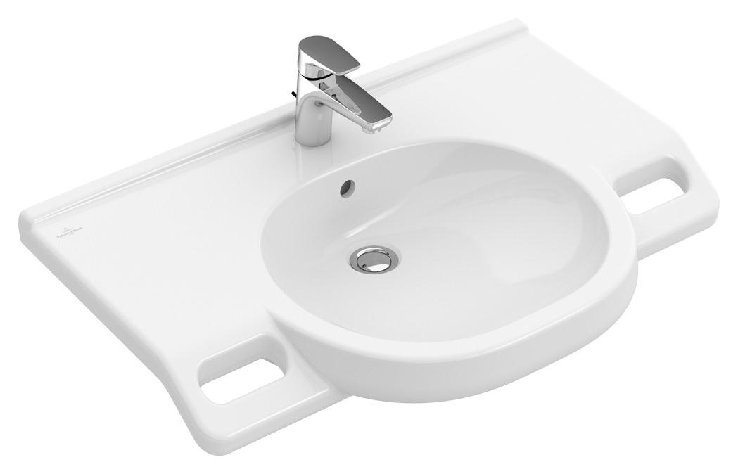 villeroy boch o novo vita waschtisch 800 x 550 mm mit hahnloch mit berlauf wei alpin. Black Bedroom Furniture Sets. Home Design Ideas