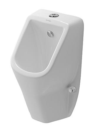 duravit d code urinal 305 x 290 mm rimless mit zulauf von oben wei 0828300000. Black Bedroom Furniture Sets. Home Design Ideas