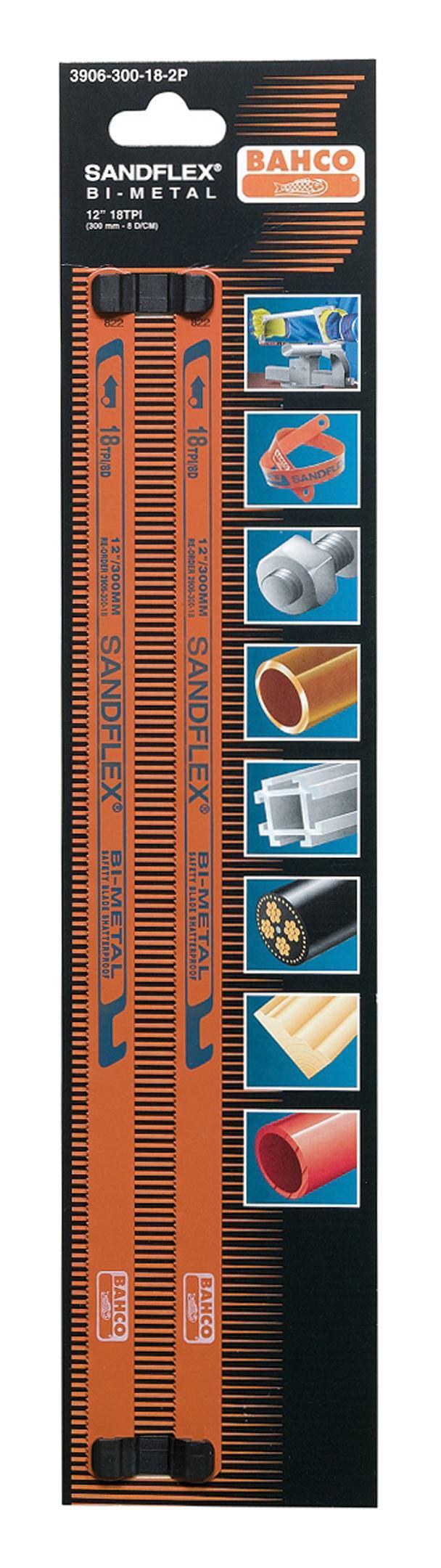 Bahco Metallsägeblatt 300 x 13 x 0,65mm 24 Zähne Kapmann 1707-300-24-100P