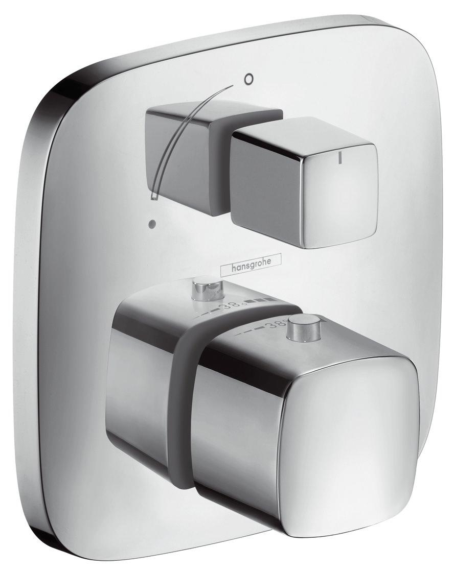 hansgrohe puravida thermostat unterputz fertigset chrom. Black Bedroom Furniture Sets. Home Design Ideas