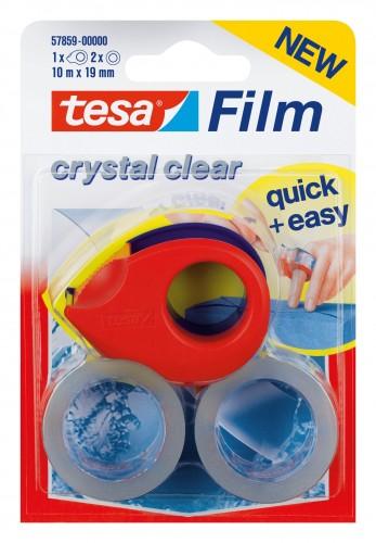 Tesa 2017 Foto Tesafilm-Mini-Abroller-2-Rollen-a-10m-x-19mm-kristallklar 57859-00-00