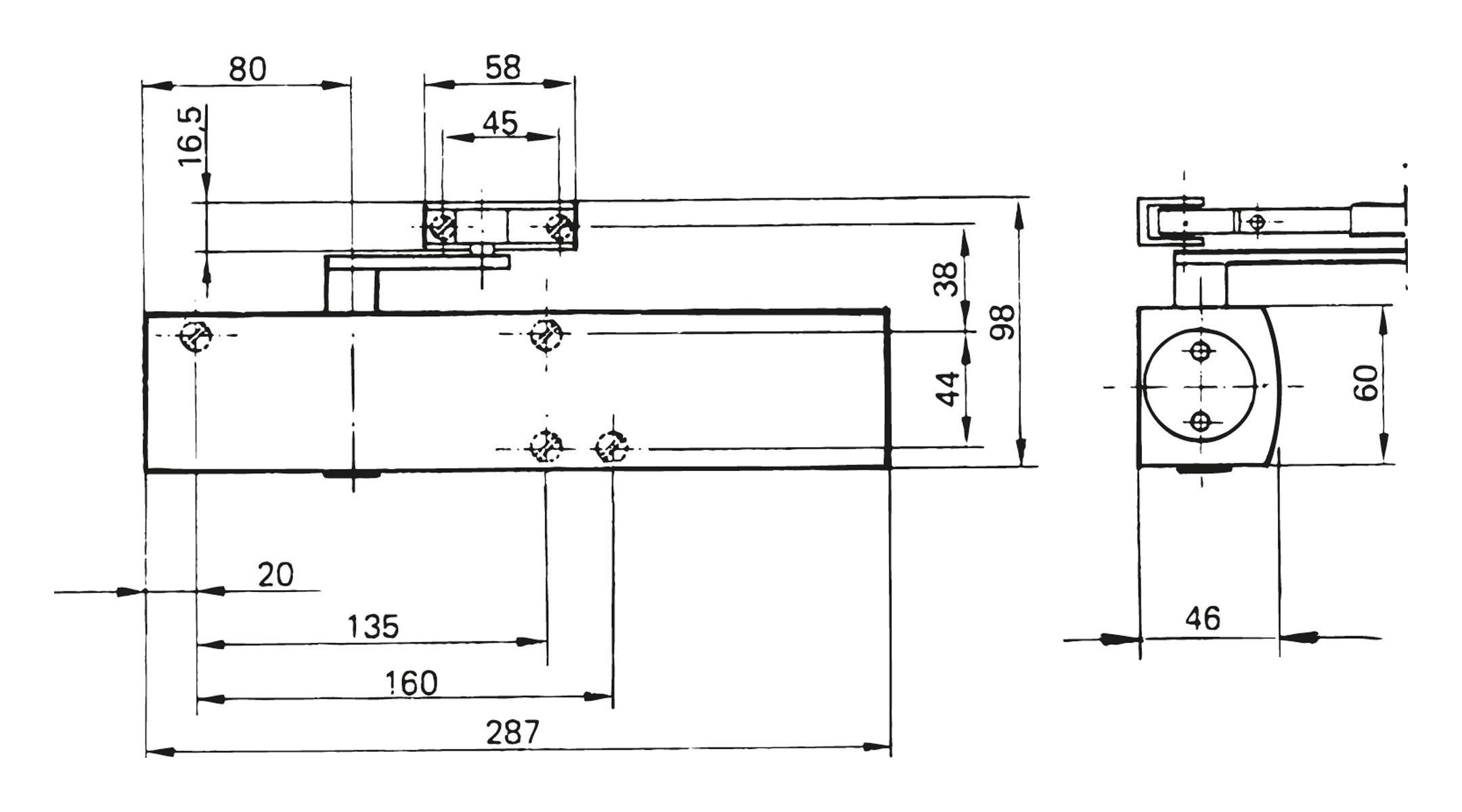 geze t rschliesser ts 4000 weiss ral 9016 t rschlie er schlie technik bau und. Black Bedroom Furniture Sets. Home Design Ideas