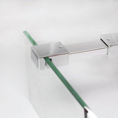 breuer panorama duschwand mit festem element ber eck klarglas hell alu chromeffekt sonderma. Black Bedroom Furniture Sets. Home Design Ideas