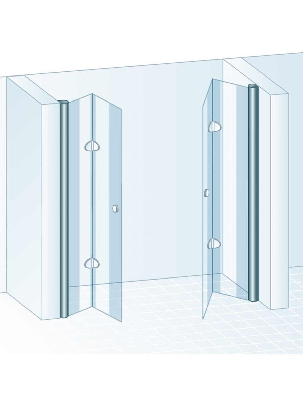 schulte garant drehfaltt r 4 teilig als pendelt r f r nische echtglas sonderma 2xd870199. Black Bedroom Furniture Sets. Home Design Ideas