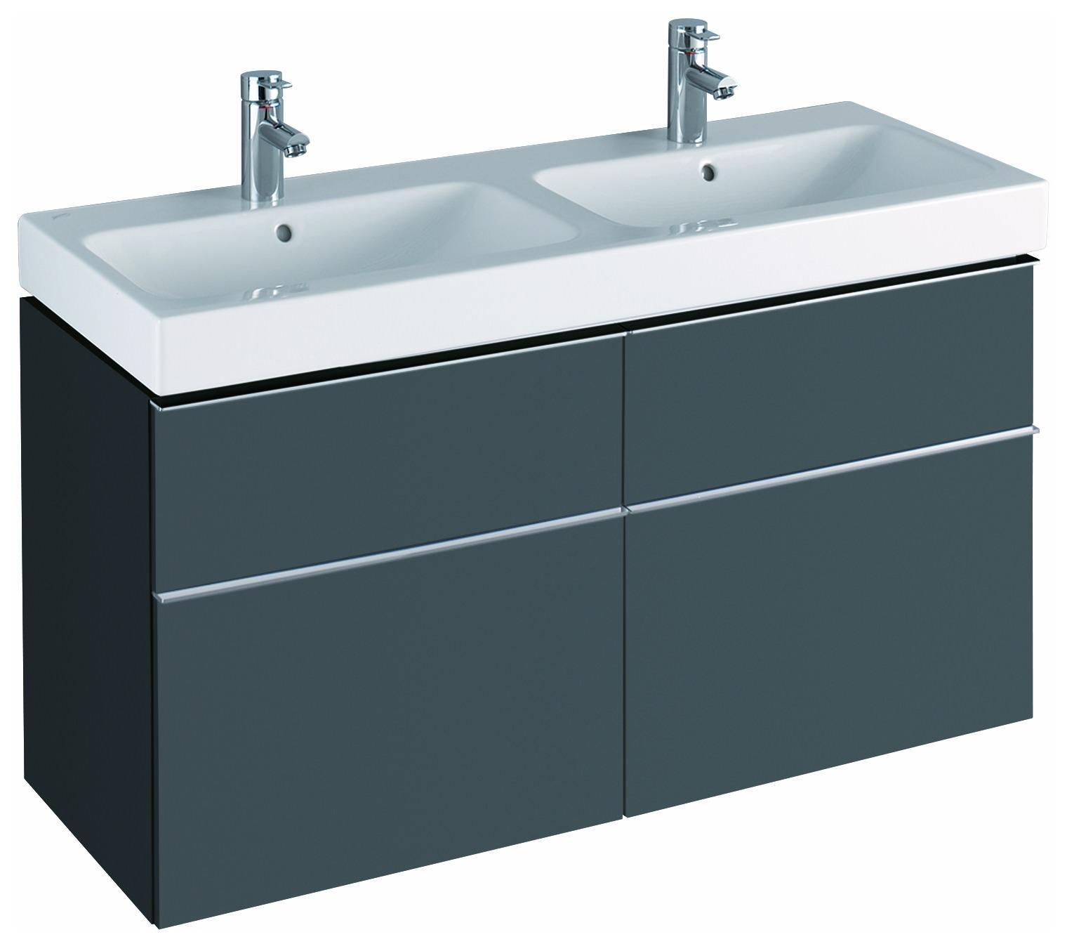 keramag icon waschtischunterschrank f r doppelwaschtisch 1190x620x477mm lava matt 841521000. Black Bedroom Furniture Sets. Home Design Ideas