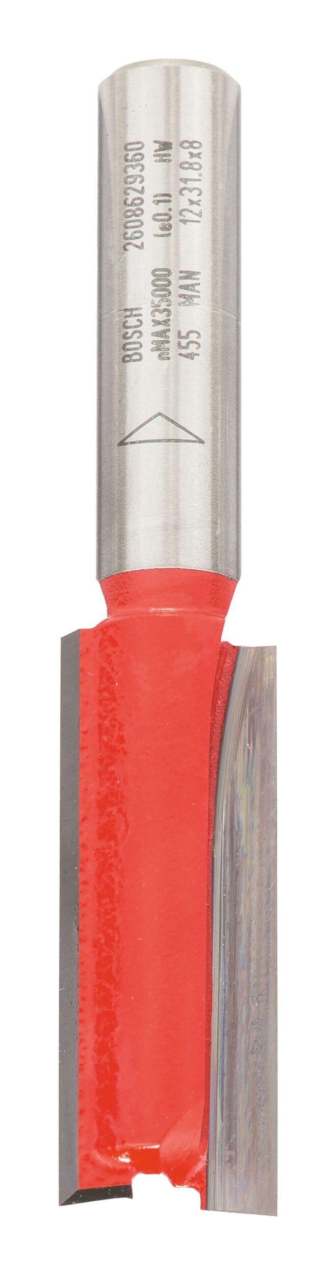 Bosch Zubehör Nutfräser zweischneidig - 12 x 31,8 x 63,8 x 8 mm - 2608629360