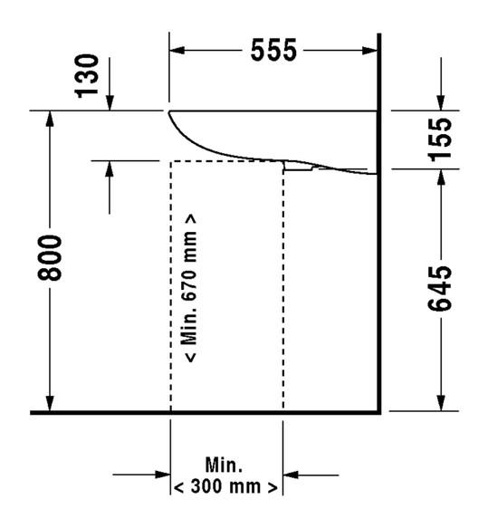 duravit d code waschtisch vital 600 x 550 mm barrierefrei. Black Bedroom Furniture Sets. Home Design Ideas