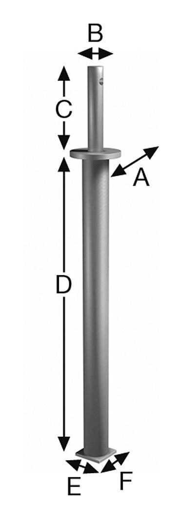 Pfostenhalter PDS60G - PDS60G