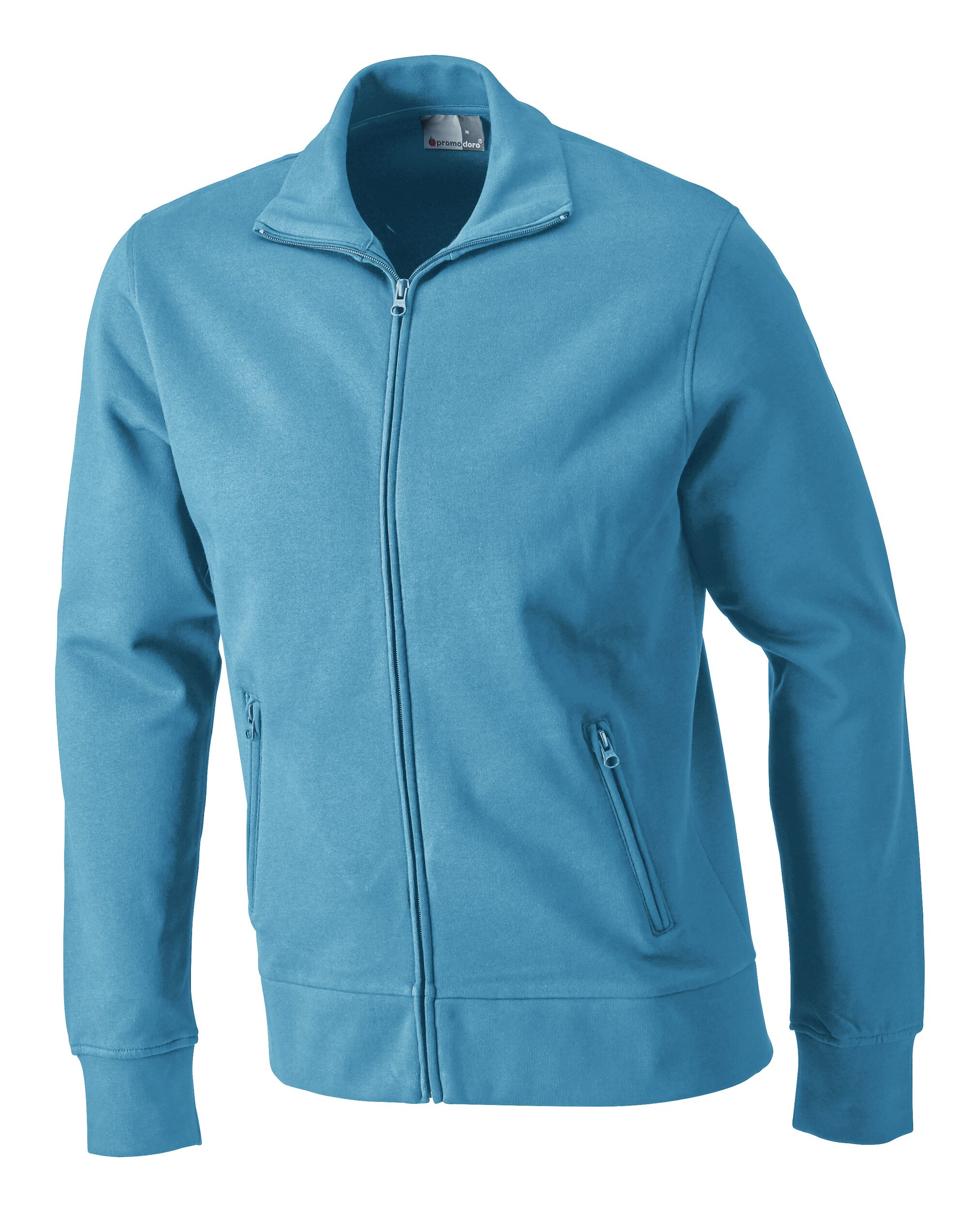Sweatshirtjacke, Größe 3XL turquoise - 5290F-46-3XL