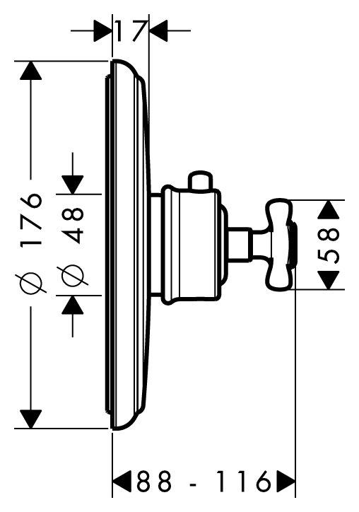 hansgrohe axor montreux thermostat unterputz fertigset chrom 16810000. Black Bedroom Furniture Sets. Home Design Ideas