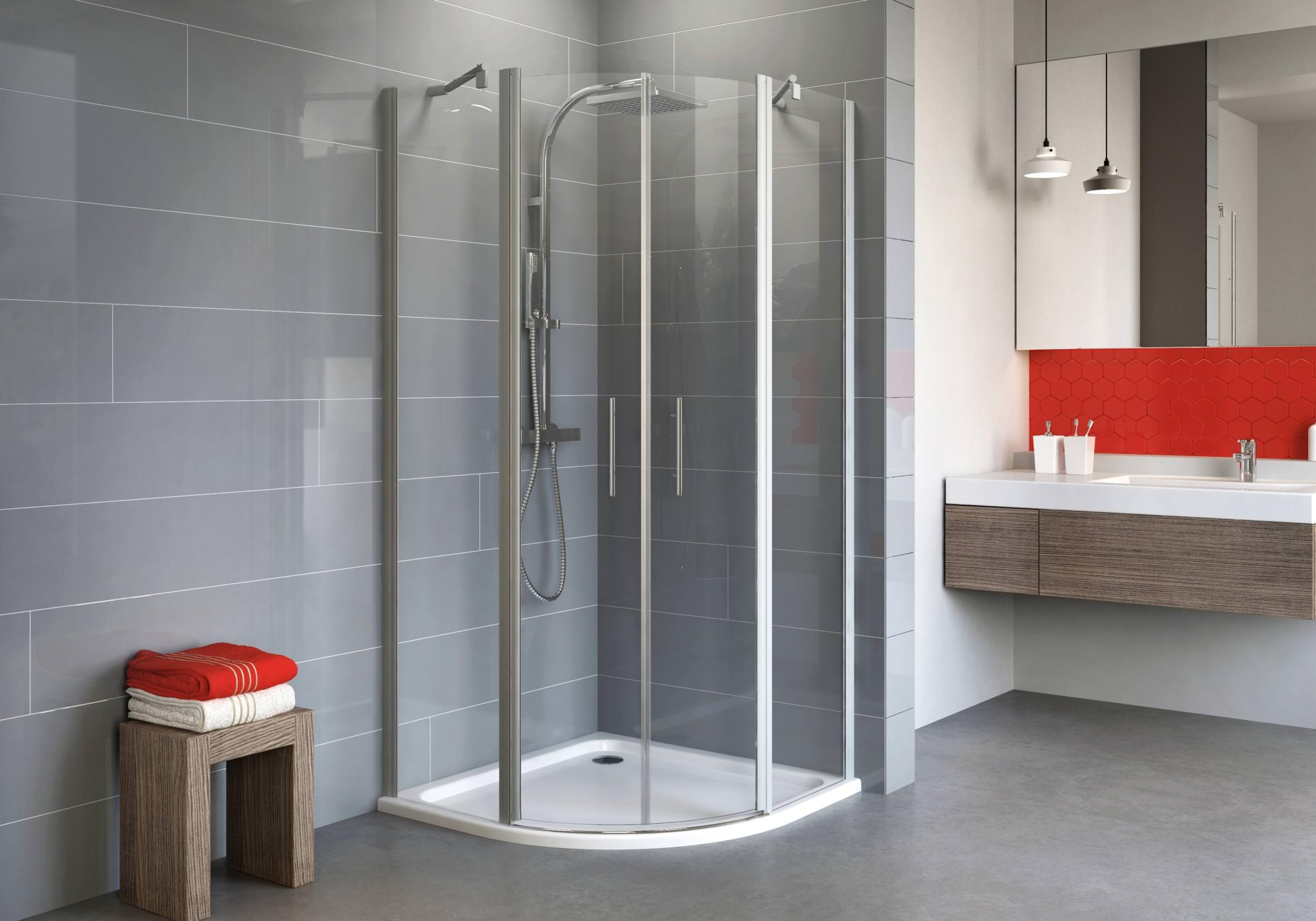 schulte alexa style 2 0 runddusche radius 550 klarglas hell alunatur 80 x 80 cm 192 cm. Black Bedroom Furniture Sets. Home Design Ideas