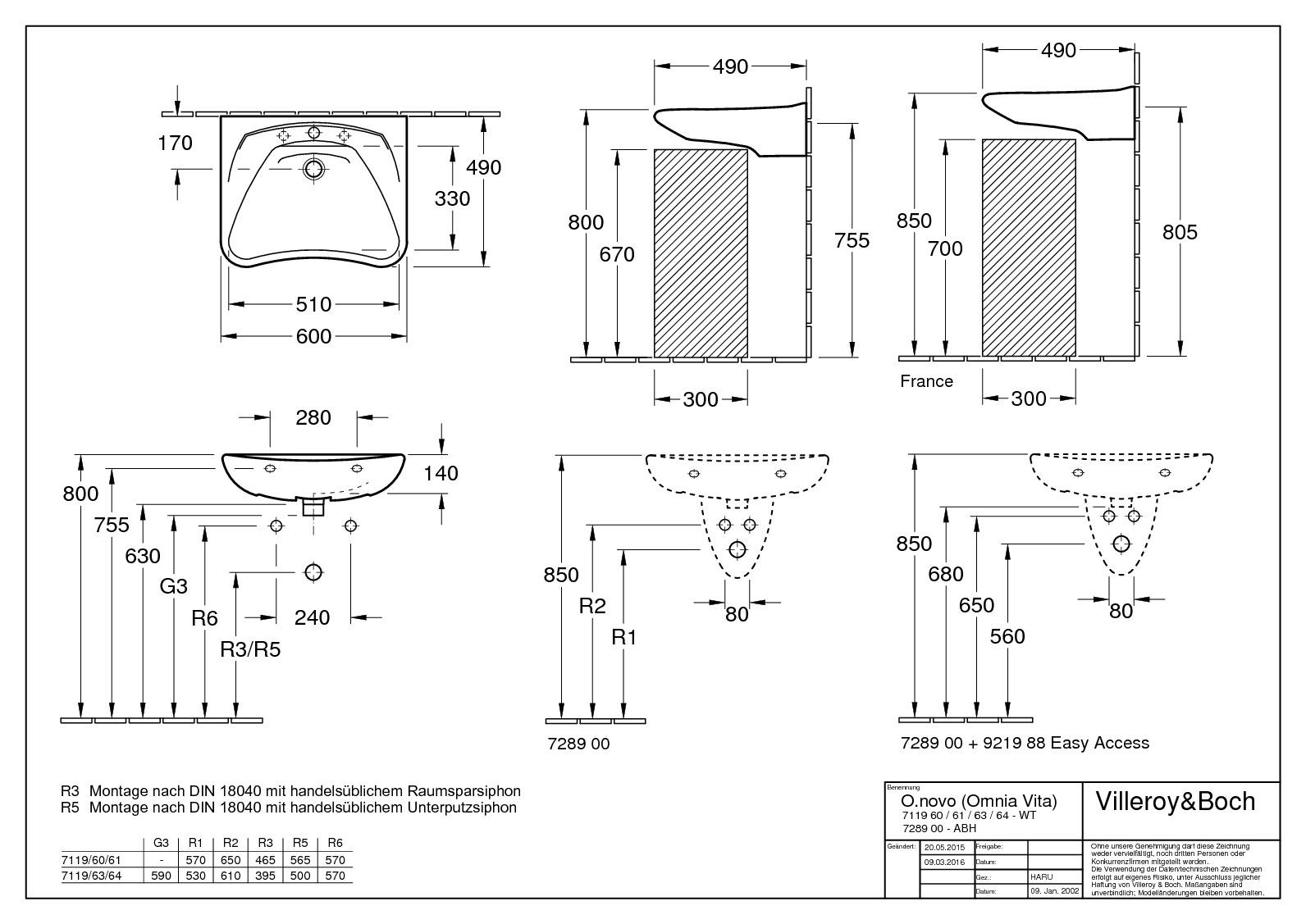 villeroy boch o novo vita waschtisch 600 x 490 mm. Black Bedroom Furniture Sets. Home Design Ideas