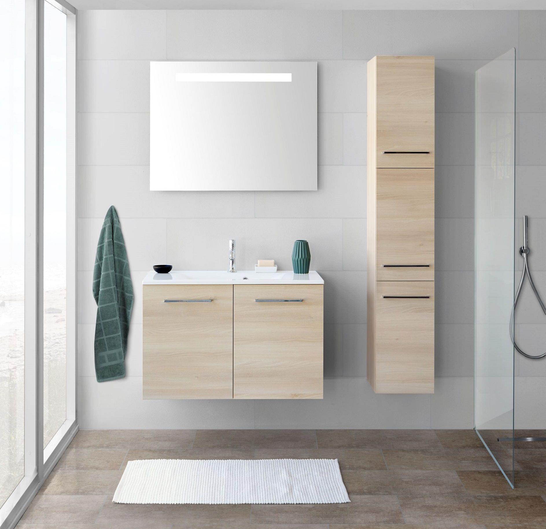 scanbad multo mikado komplett set 90cm mit spiegel schwarz struktur mmm 0444 90791. Black Bedroom Furniture Sets. Home Design Ideas