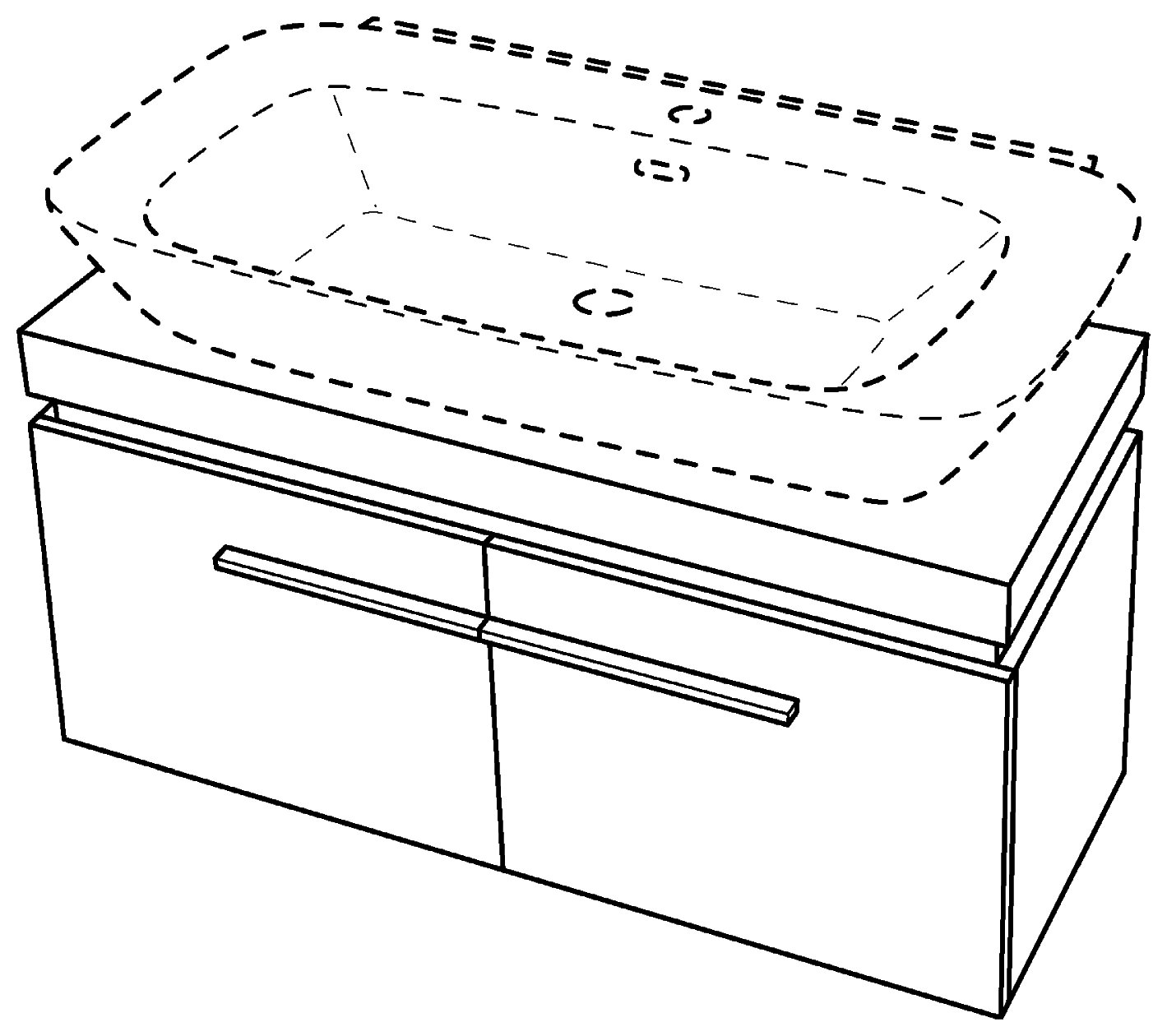 keramag silk waschtischunterschrank 816022 1200x400x470mm wei hochglanz 816022000. Black Bedroom Furniture Sets. Home Design Ideas