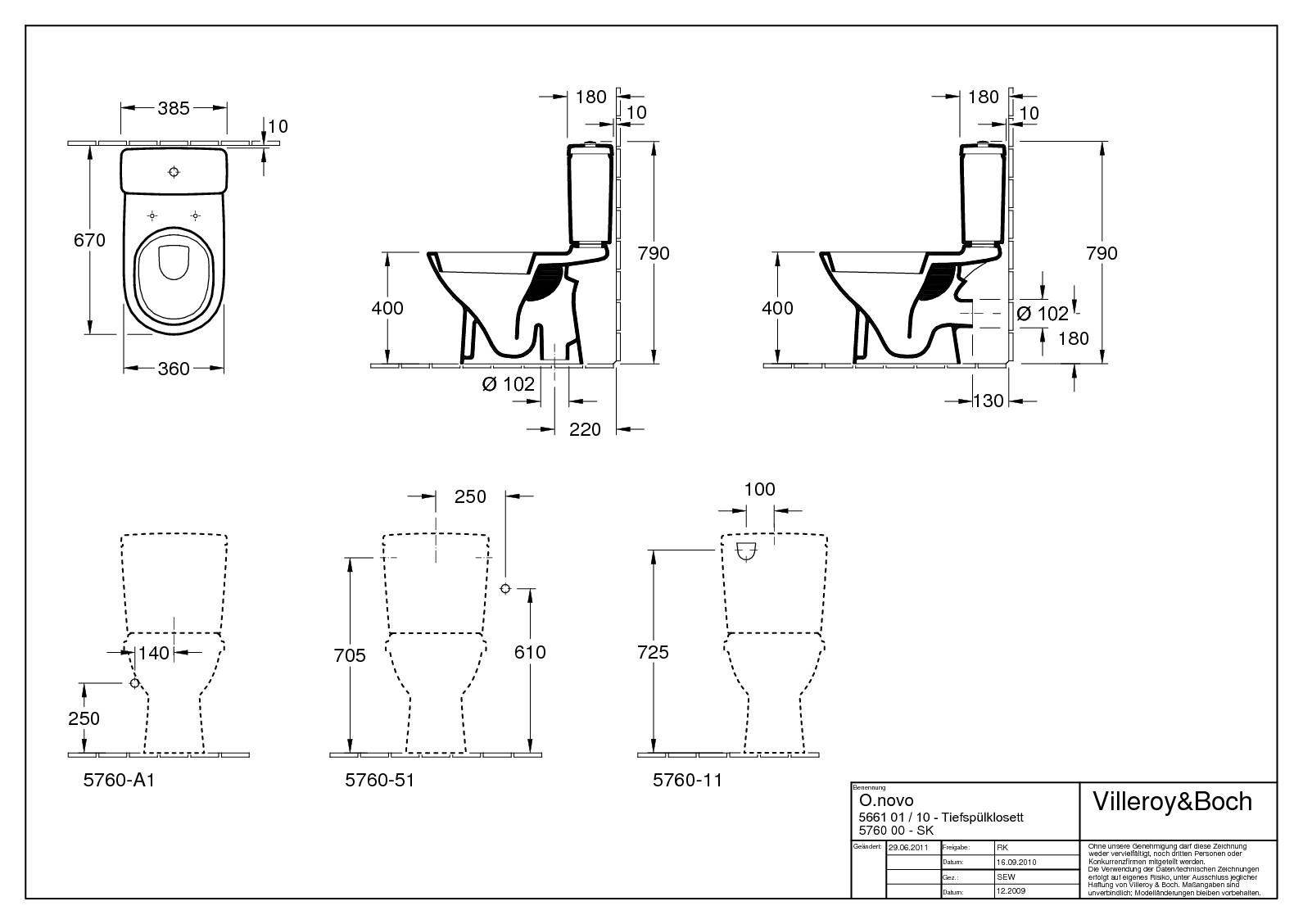 villeroy boch o novo tiefsp lklosett f r kombination stand wc abgang senkrecht mit sp lrand. Black Bedroom Furniture Sets. Home Design Ideas