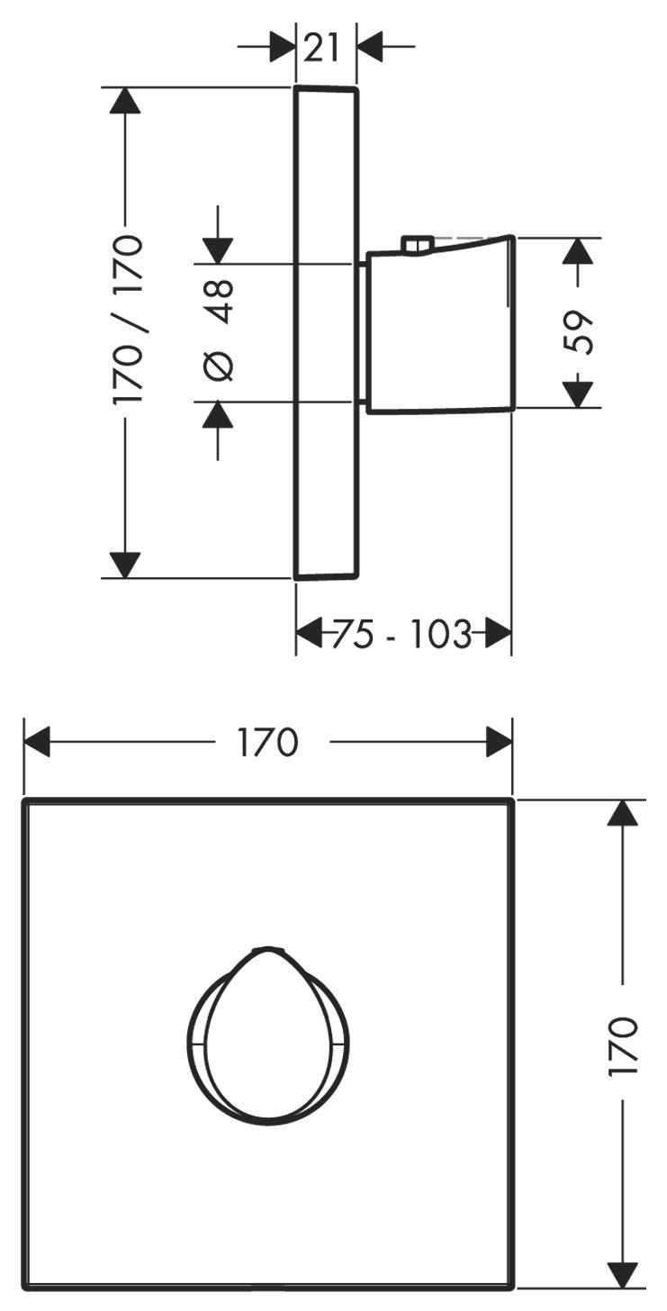 hansgrohe axor starck organic thermostat unterputz. Black Bedroom Furniture Sets. Home Design Ideas
