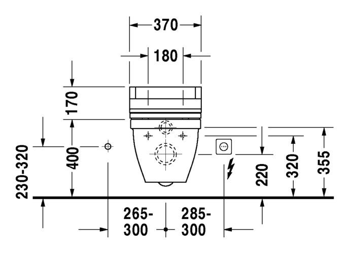duravit starck 3 wand wc 360 x 620 mm tiefsp ler mit durafix wei 2226090000. Black Bedroom Furniture Sets. Home Design Ideas