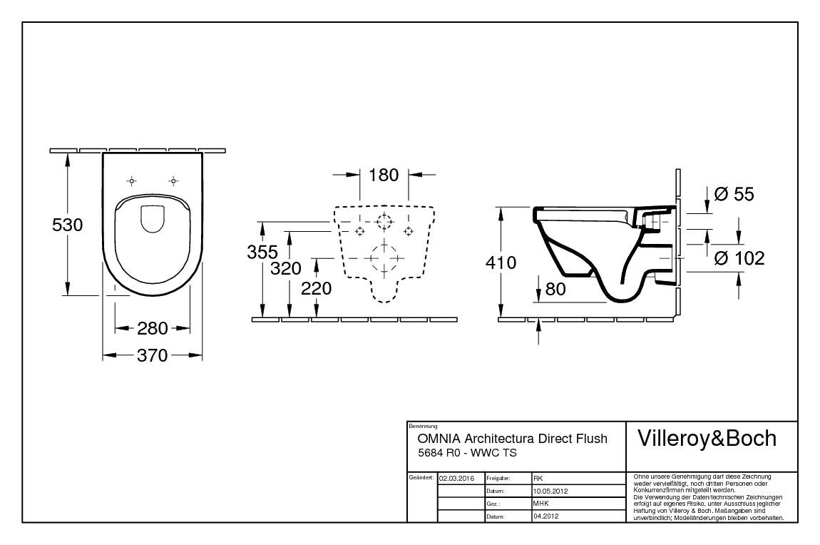 villeroy boch architectura tiefsp lklosett wand wc ohne sp lrand design rund wei alpin 5684r001. Black Bedroom Furniture Sets. Home Design Ideas