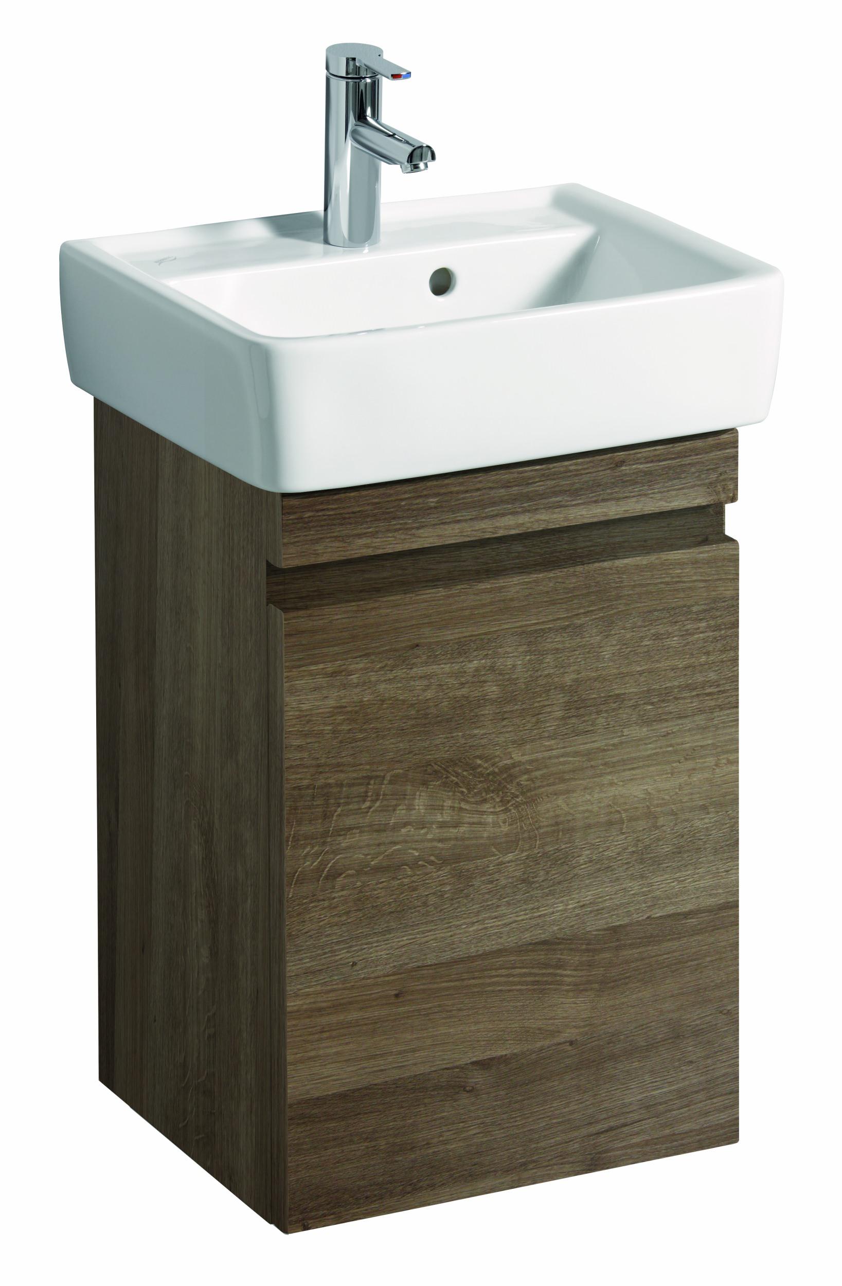 keramag renova nr 1 plan handwaschbecken unterschrank 414x586x345mm eiche natur dunkel. Black Bedroom Furniture Sets. Home Design Ideas