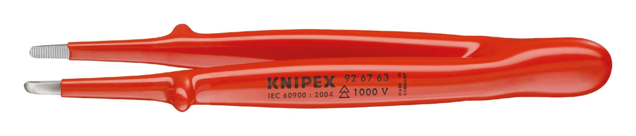 Knipex Präzisions-Pinzette VDE 145mm runde Spitzen - 92 67 63