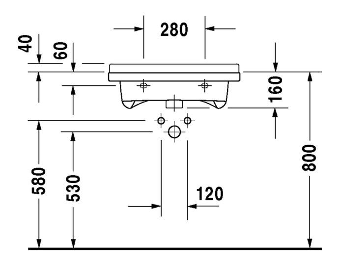 Duravit Starck 3 Waschtisch Vital 600 X 545 Mm Barrierefrei Mit