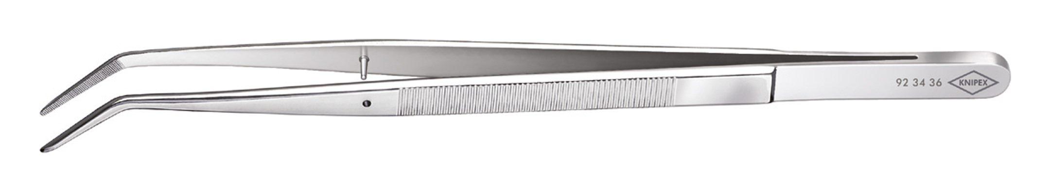 Knipex Präzisions-Pinzette vernickelt 155mm spitz gebogen - 92 34 36