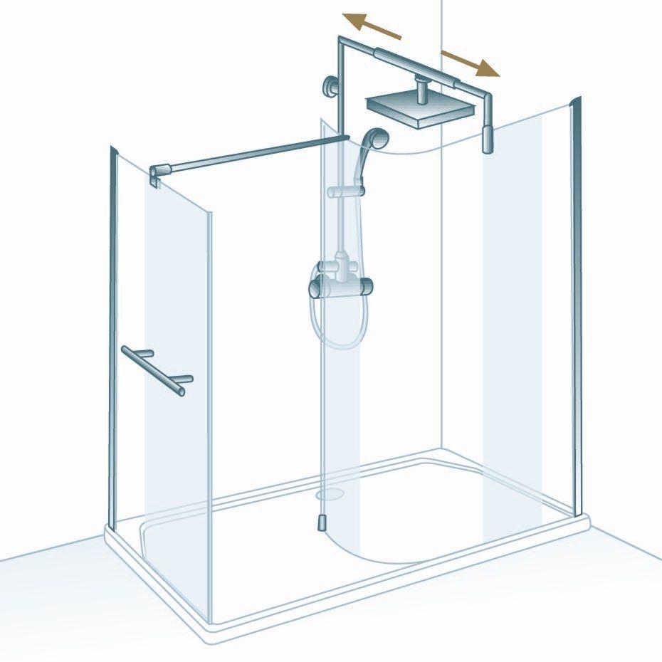 schulte masterclass free 3 walk in mit gebogener scheibe und seitenwand echtglas d149016 d140070. Black Bedroom Furniture Sets. Home Design Ideas