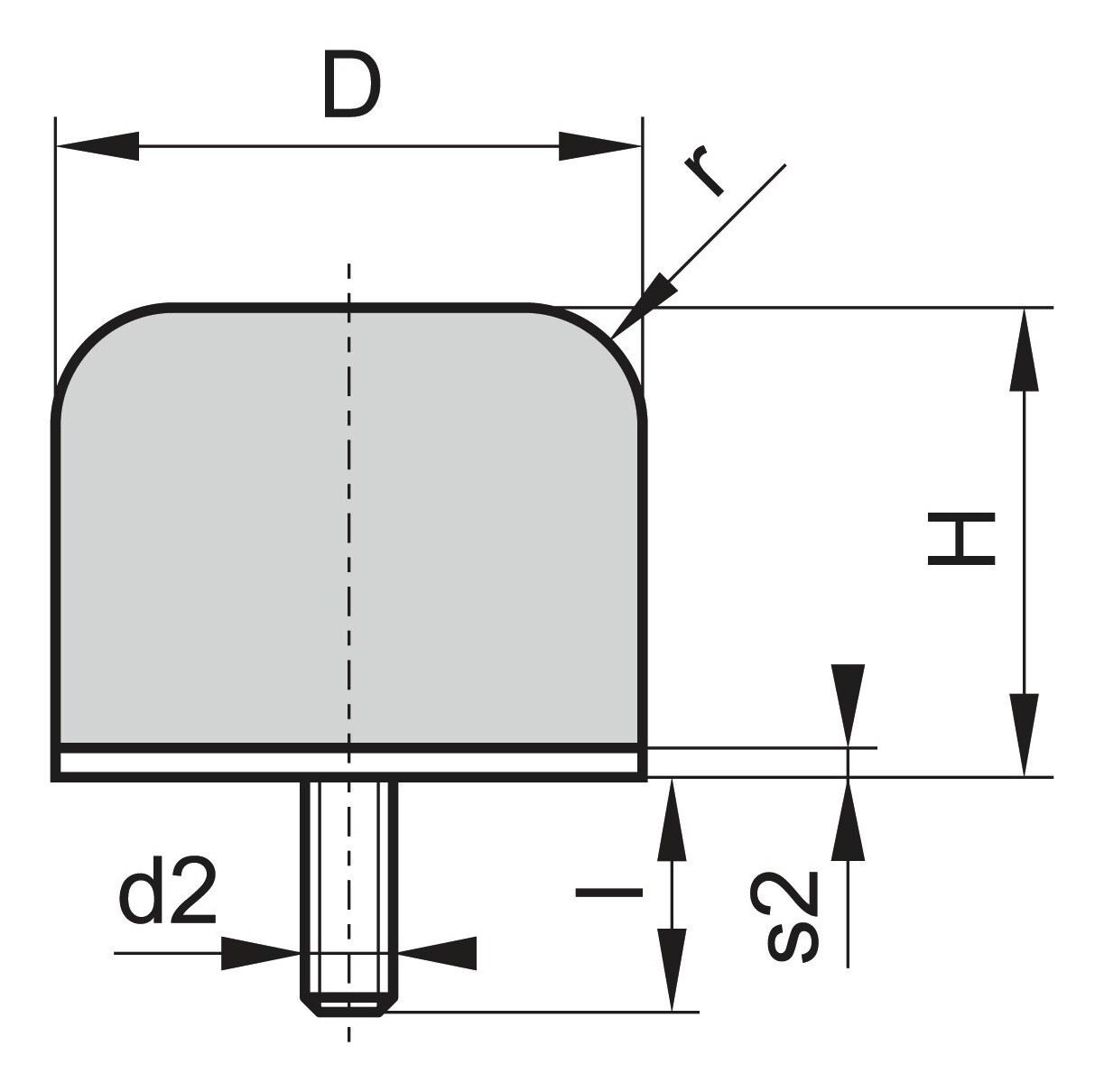 Kran Gummi Puffer GP-1G D63 H54 M10