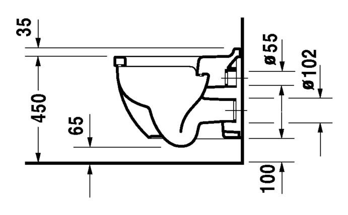 duravit starck 3 wand wc comfort 360 x 545 mm tiefsp ler wei 2215090000. Black Bedroom Furniture Sets. Home Design Ideas
