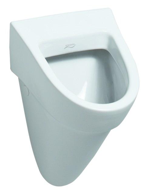 keramag flow urinal zulauf von hinten abgang nach hinten wei alpin 235900000. Black Bedroom Furniture Sets. Home Design Ideas