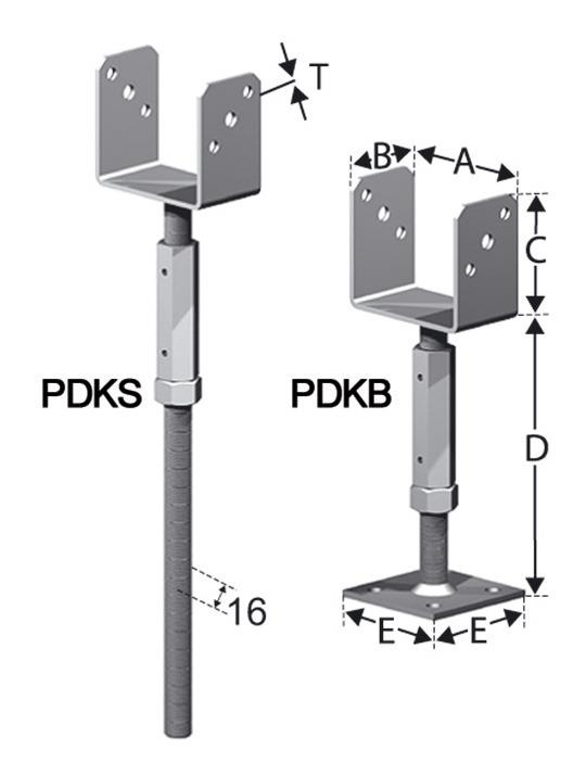 Pfostenhalter PDKB48/40G - PDKB48/40G (VPE: 10 Stück)