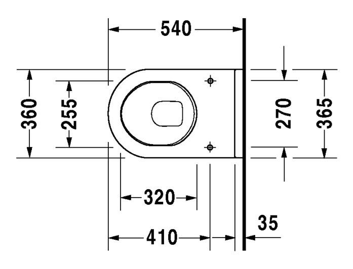 duravit starck 3 wand wc 360 x 540 mm tiefsp ler wei wondergliss 22000900001. Black Bedroom Furniture Sets. Home Design Ideas