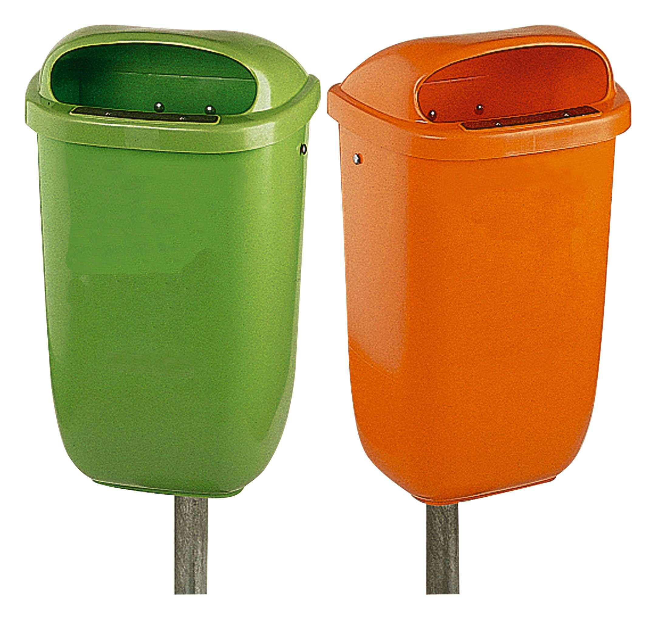 OPV Papierkorb 50 l Kunststoff orange