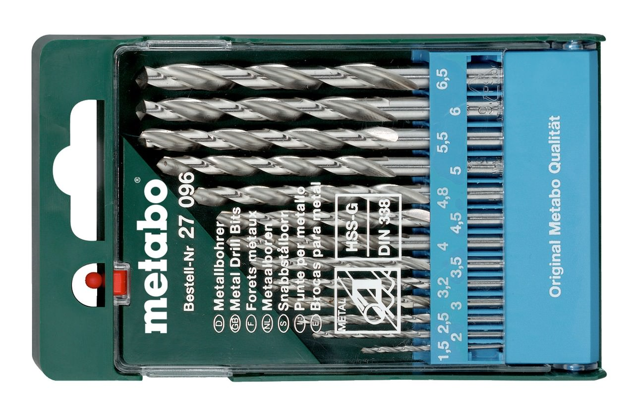 105 HSS Spiralbohrer Metallbohrer 1,5-2-2,5-3,-3,2-3,5-4-4,5-5,-5,5-6-6,5-8-10mm