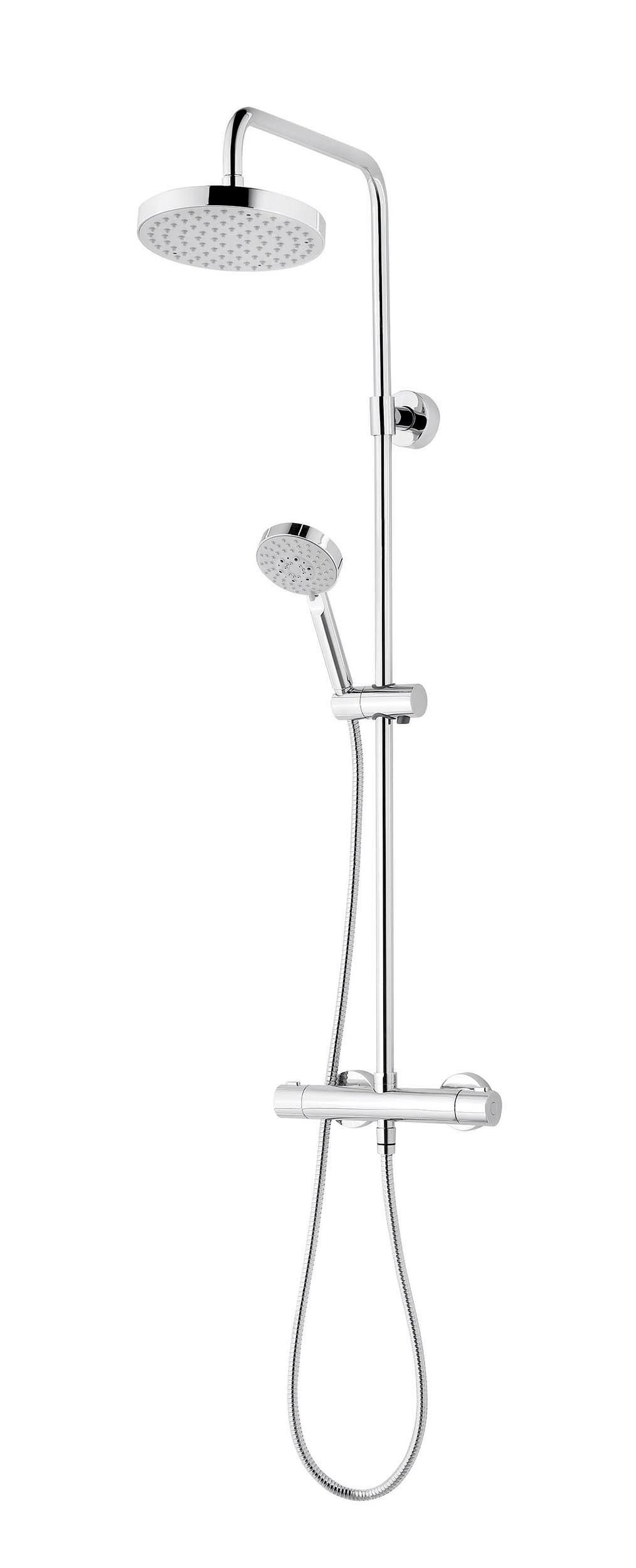 schulte duschmaster modern rain iii mit thermostat kopfbrause rund chrom d969260. Black Bedroom Furniture Sets. Home Design Ideas