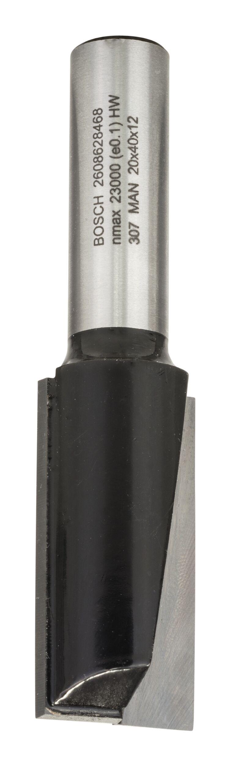 Bosch Zubehör Nutfräser zweischneidig - 20 x 40 x 81 x 12 mm - 2608628468