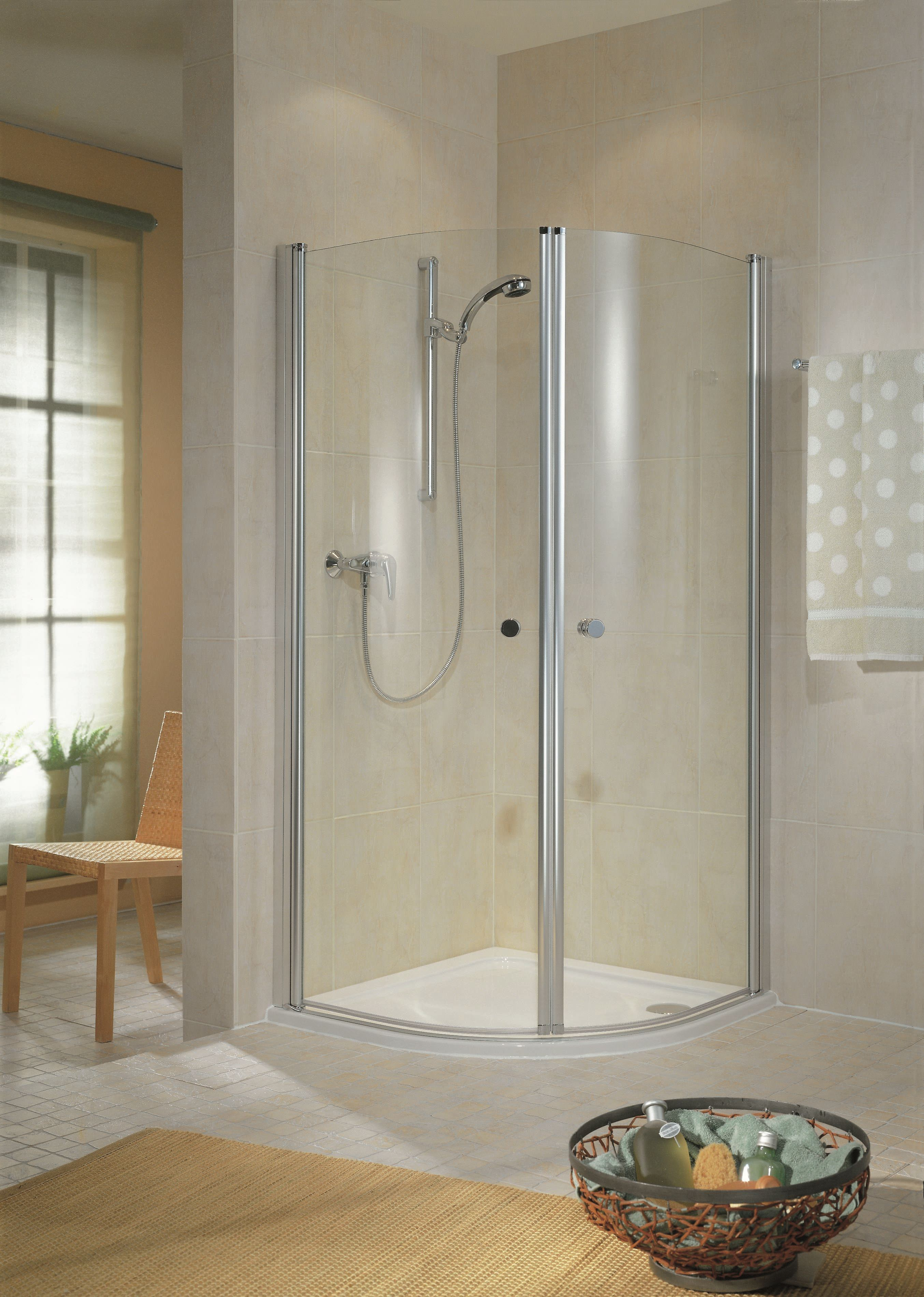 schulte garant runddusche bella 2 teilig echtglas d83206. Black Bedroom Furniture Sets. Home Design Ideas