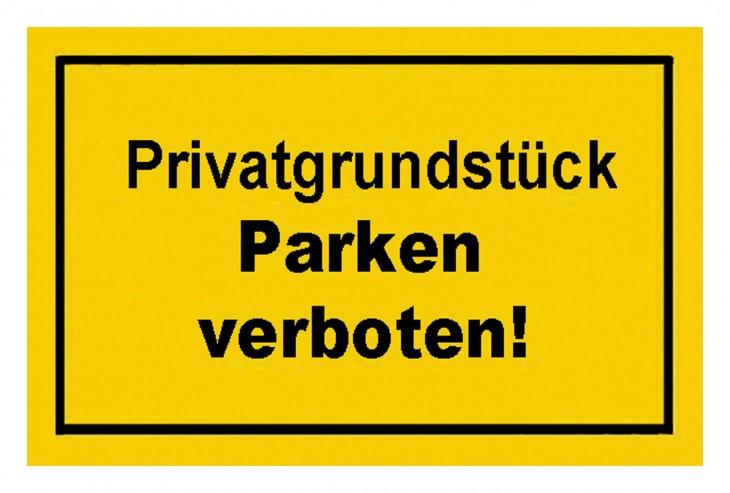 Werkstatt 2017 Foto Verbotsschilder-Privatgrundstueck-parken