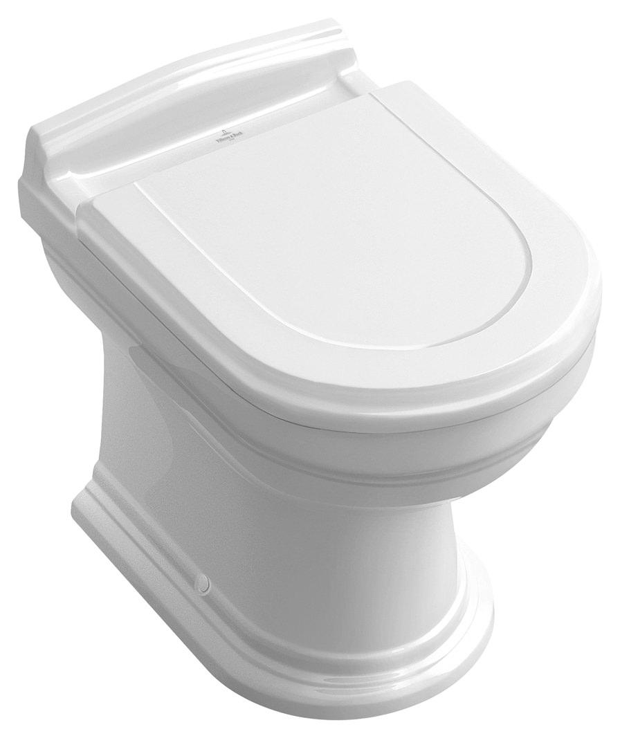 villeroy boch hommage tiefsp lklosett stand wc abgang waagerecht wei alpin ceramicplus 666310r1. Black Bedroom Furniture Sets. Home Design Ideas