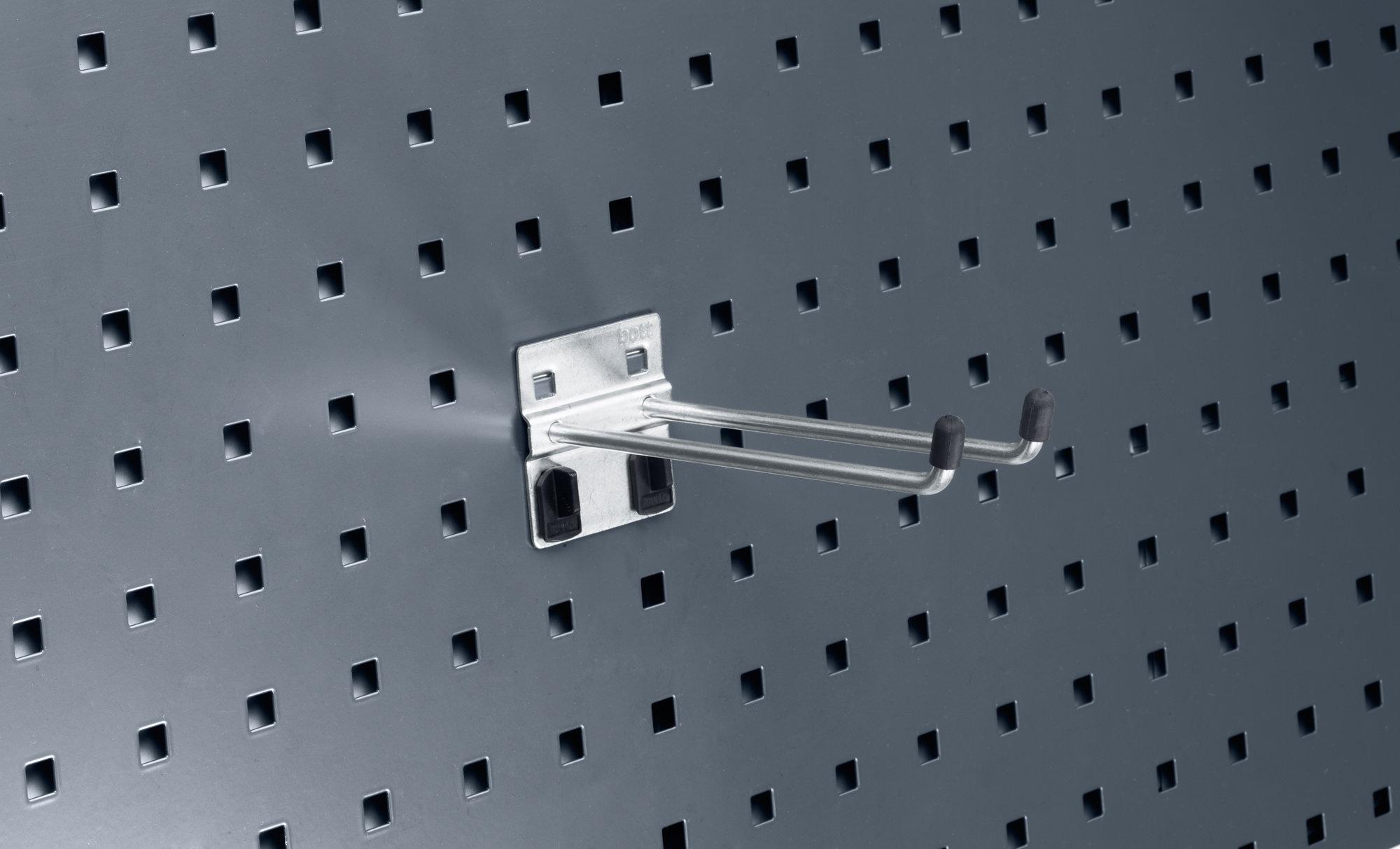 bott perfo B/ügelhaken 14010025 L/änge 150 mm 5 St/ück mit Doppelaufnahme f/ür perfo Lochplatten