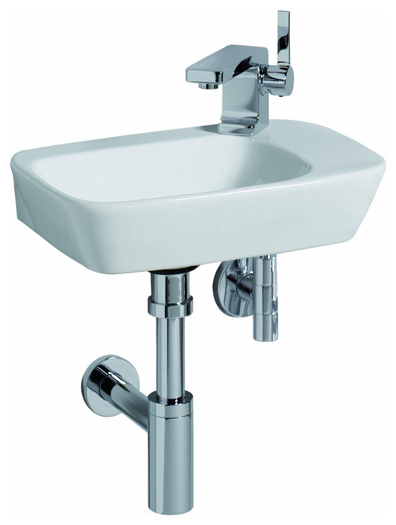 keramag silk handwaschbecken 400mm x 295mm wei alpin keratect 121640600. Black Bedroom Furniture Sets. Home Design Ideas