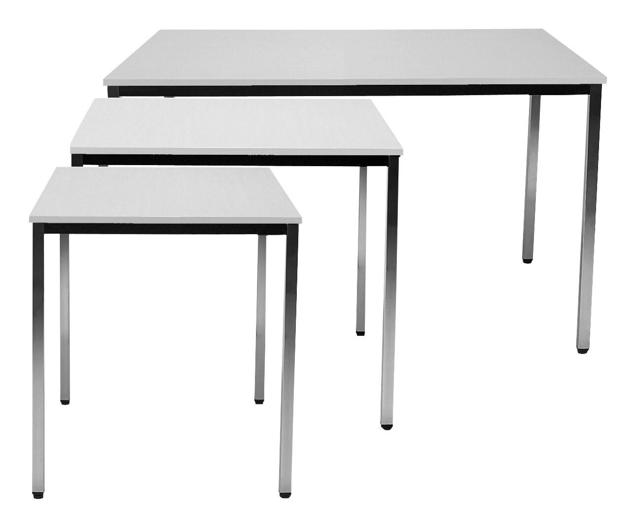 Tisch 1400x800 mm chrom/lichtgrau - Simp140x80CL