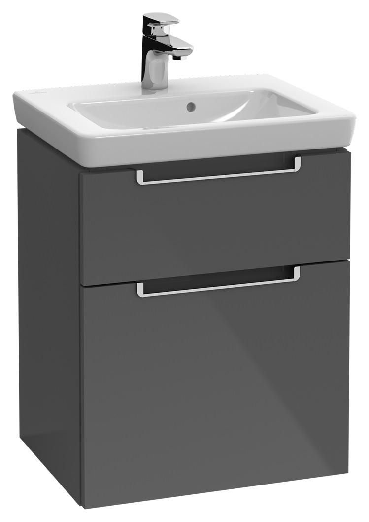 villeroy boch subway 2 0 waschtischunterschrank 440 x 590 x 352 mm terra matt griff. Black Bedroom Furniture Sets. Home Design Ideas