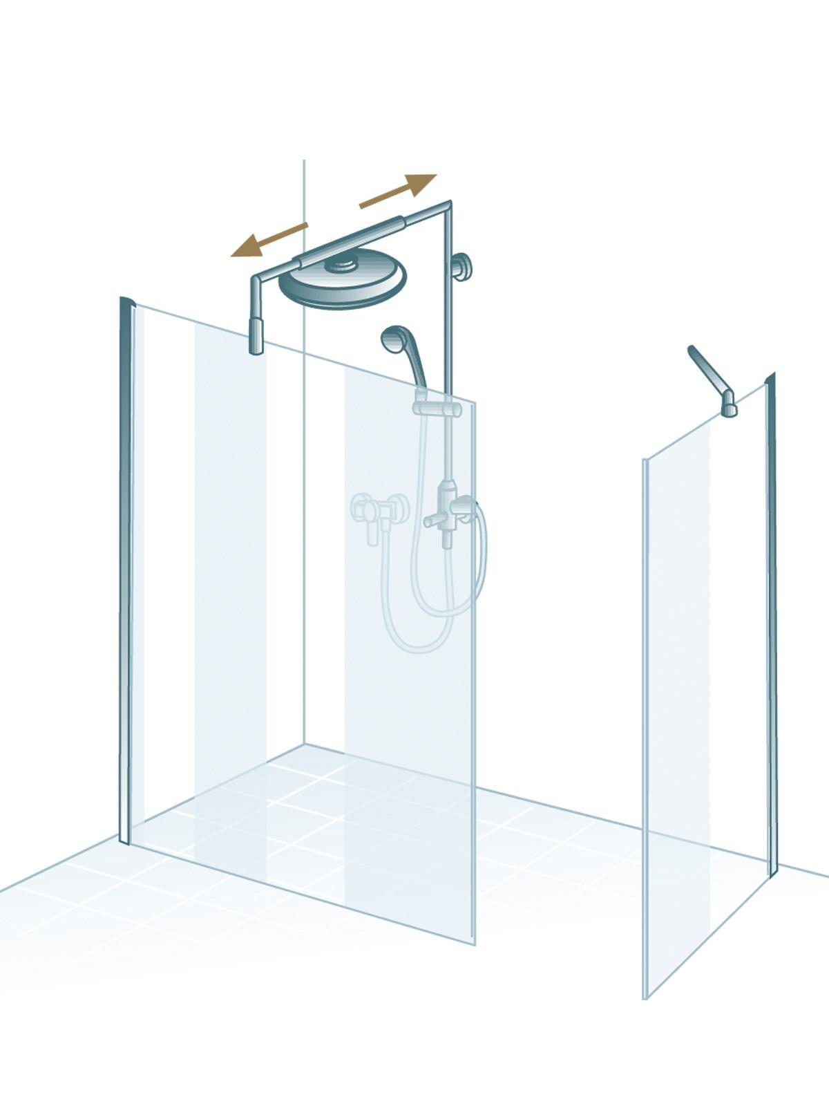 schulte masterclass free 1 walk in mit seitenwand echtglas. Black Bedroom Furniture Sets. Home Design Ideas