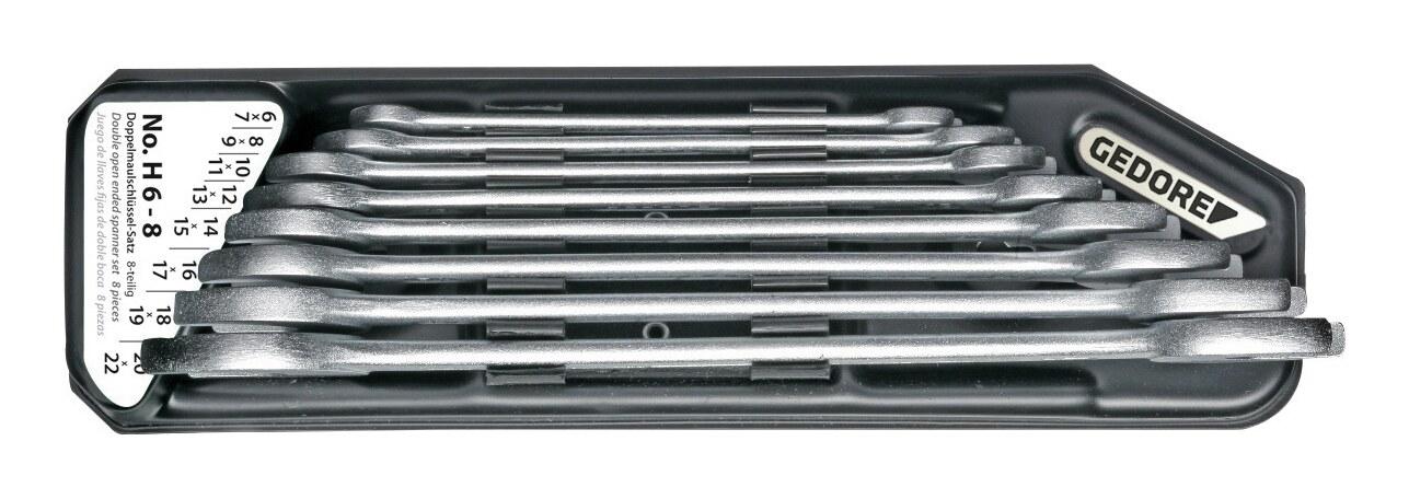 8-tlg. 1//3 Werkstattwageneinlage 6-22 mm Doppelmaulschlüssel-Satz