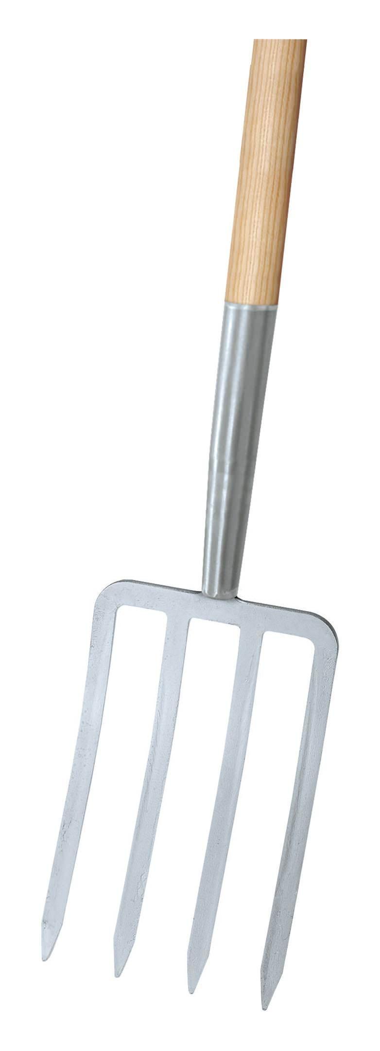 Idealspaten Ideal Spatengabel silber 4 Zinken T-Stiel - 67053000
