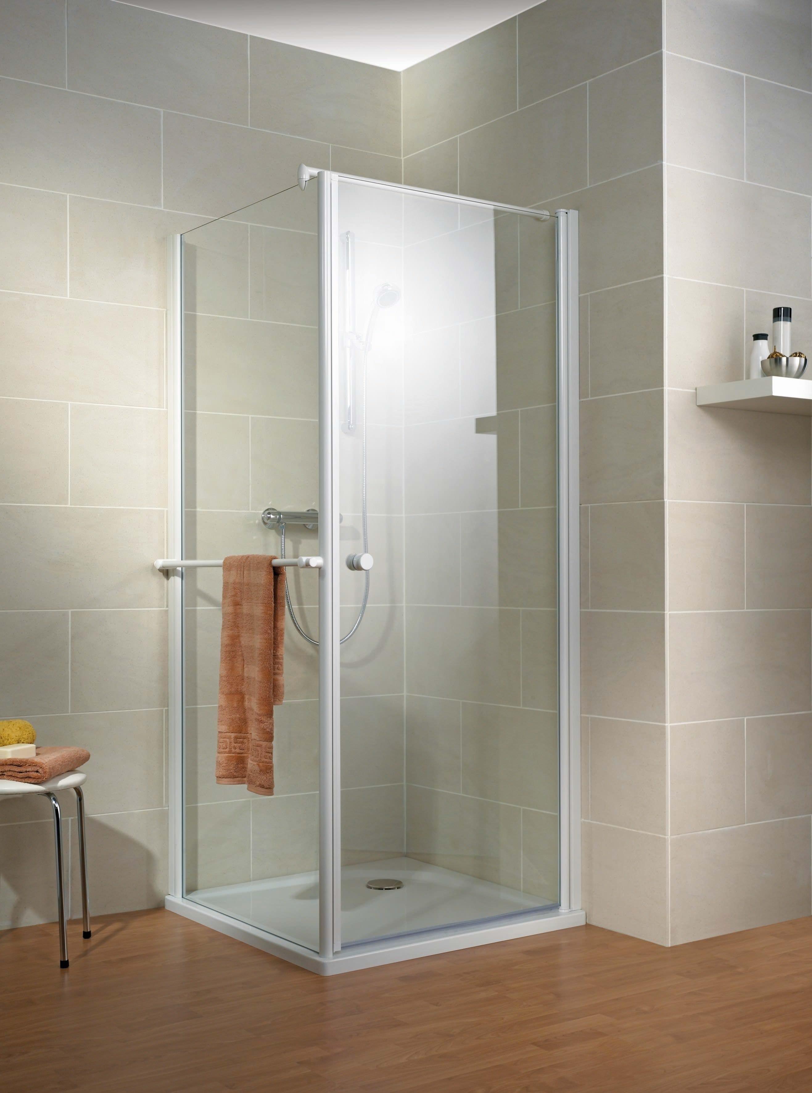 schulte garant dreht r porta mit seitenwand inkl handtuchhalter echtglas sonderma d80299. Black Bedroom Furniture Sets. Home Design Ideas