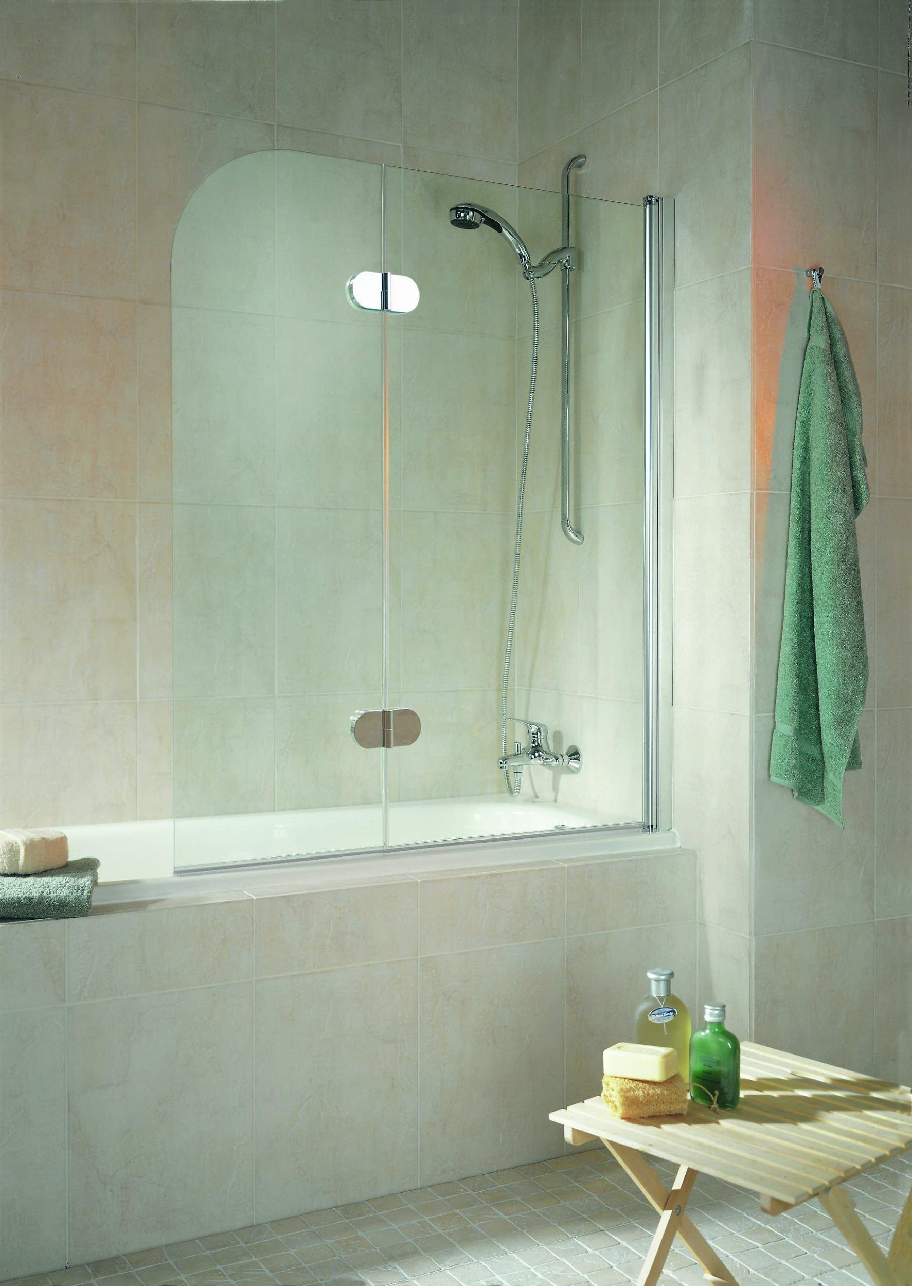 schulte komfort garant badewannenfaltwand 2 teilig grau. Black Bedroom Furniture Sets. Home Design Ideas