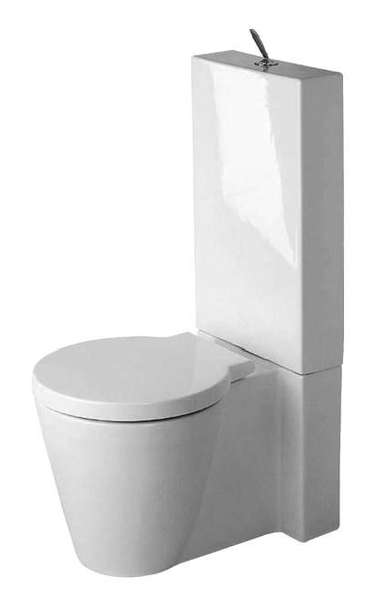 Gut bekannt Duravit Starck 1 Stand-WC Kombination 415 x 640 mm Tiefspüler mit FT14