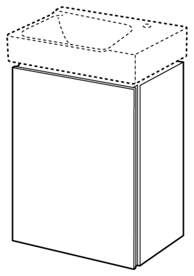 keramag xeno2 handwaschbecken unterschrank 380x525x265mm holzstruktur scultura grau 807042000. Black Bedroom Furniture Sets. Home Design Ideas
